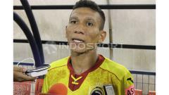 Indosport - TA. Musafri Usai Mencetak Gol ke Gawang Mantan Klubnya