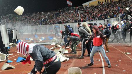 Ilustrasi kerusuhan dalam pertandingan sepak bola. - INDOSPORT