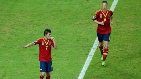 David Villa (Vissel Kobe), memutuskan pensiun menyusul rekan senegaranya, Fernando Torres. - INDOSPORT