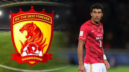 Paulinho, gelandang Guangzhou Evergrande Taobao. - INDOSPORT