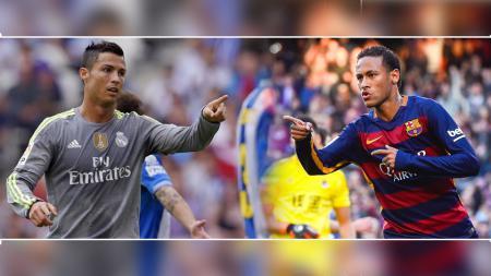 Cristiano Ronaldo dan Neymar - INDOSPORT