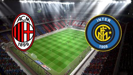Logo dua tim Serie A Italia, AC Milan dan Inter Milan. - INDOSPORT