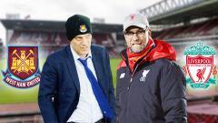 Indosport - West Ham United vs Liverpool.