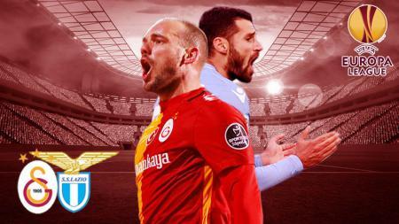 Galatasaray akan menjamu Lazio pada leg pertama Liga Europa, dini hari nanti WIB. - INDOSPORT