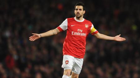 Cesc Fabregas semasa di Arsenal. - INDOSPORT