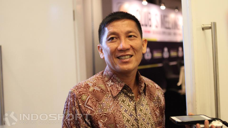 Ketua Umum Persija Jakarta, Ferry Paulus. Copyright: Herry Ibrahim/INDOSPORT