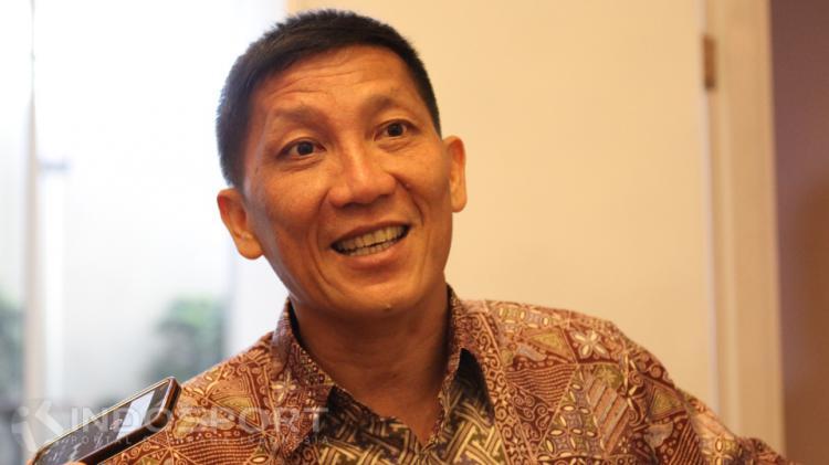 Ketua Umum Persija Jakarta Ferry Paulus. Copyright: Herry Ibrahim/INDOSPORT