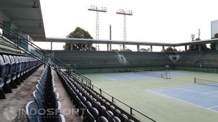 Lapangan Tenis Indoor, Senayan, Jakarta. - INDOSPORT