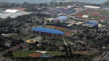 Komplek Olahraga Jakabaring Palembang.