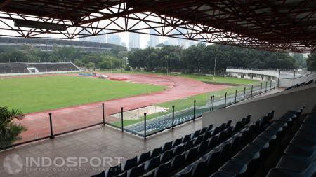 Stadion Madya akan menjadi venue laga Persija Jakarta vs Kalteng Putra di Shopee Liga 1 2019. - INDOSPORT