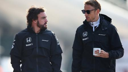Fernando Alonso dan Jenson Button - INDOSPORT