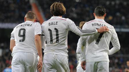 Karim Benzema, Gareth Bale, dan Cristiano Ronaldo - INDOSPORT