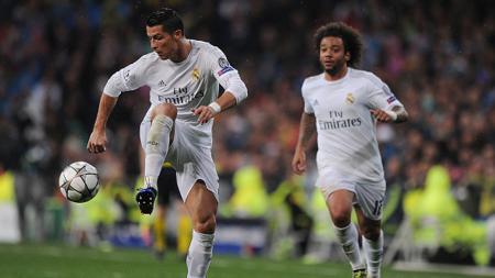Cristiano Ronaldo dan Marcelo saat masih berseragam Real Madrid. - INDOSPORT