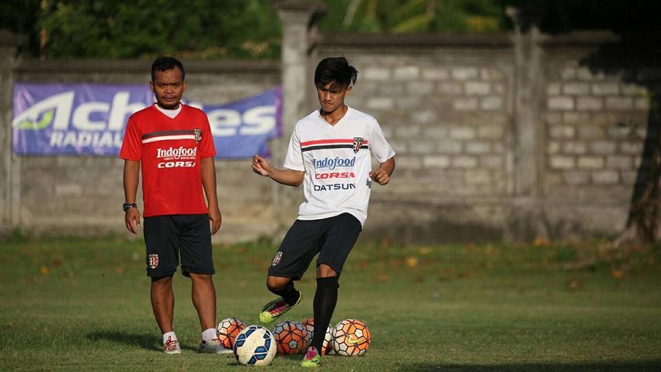 Mahdi Fahri Albar sedang berlatih bersama Bali United. Copyright: dok Bali United.