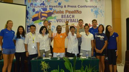 Technical Meeting dan Press Conference Asia Pasicif Beach Vollyeball 2016. - INDOSPORT