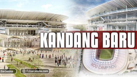 Camp Nou akan segera direnovasi untuk menjadi lebih megah. - INDOSPORT