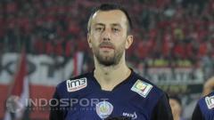 Indosport - Goran Gancev saat masih membela Arema FC.