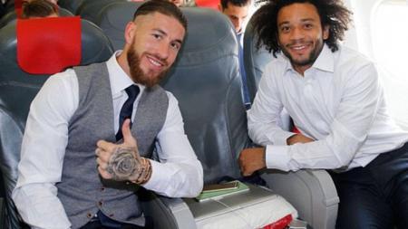 Sergio Ramos (kiri) dan Marcelo. - INDOSPORT