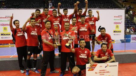Juara Proliga putra 2016, Tim Surabaya Samator. - INDOSPORT