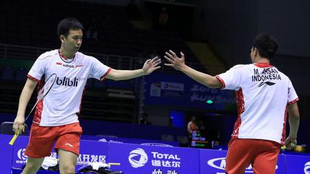 Hendra Setiawan dan Mohammad Ahsan. - INDOSPORT