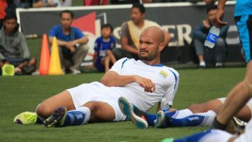 Penyerang andalan Persib Bandung, Sergio van Dijk.