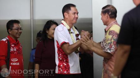 Eks Ketua Umum PP PBSI, Gita Wirjawan menyampaikan ungkapan kesedihannya atas wafatnya salah satu legenda ganda putra Indonesia, Johan Wahyudi. - INDOSPORT