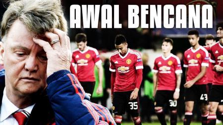 Sejumlah kekalahan Man United menjadi pemicu dari pemecatan Louis Van Gaal. - INDOSPORT