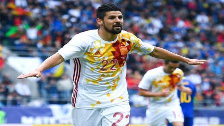 Nolito cetak dua gol kemenangan Spanyol atas Bosnia. - INDOSPORT