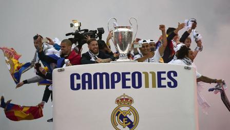 Parade atas keberhasilan Real Madrid juara Liga Champions Eropa 2016.