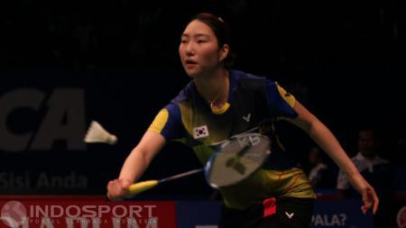 Tunggal putri Korea Selatan, Sung Ji-hyun. - INDOSPORT