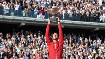 Petenis asal Serbia, Novak Djokovic juara Prancis Terbuka 2016.