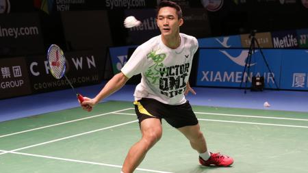 Tunggal putra Indonesia, Jonatan Christie saat berlatih jelang berlaga di Australia Open 2016. Jo akan bertemu Lee Chong Wae dibabak awal. - INDOSPORT