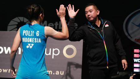 Usai berakhirnya Kejuaraan Dunia Bulutangkis 2019 pada Minggu (25/08/19),  Eng Hian memberikan catatannya terkait perfoma seluruh anak asuhnya. - INDOSPORT