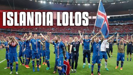 Pemain Islandia selebrasi. - INDOSPORT