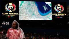 Indosport - Pertarungan Kolombia antar Chile harus terhenti dikarenakan kondisi yang tidak memungkinkan.