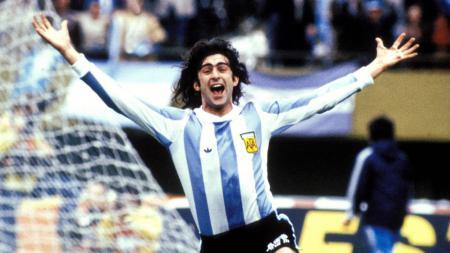 Pemain Argentina, Mario Kempes era 1978. - INDOSPORT