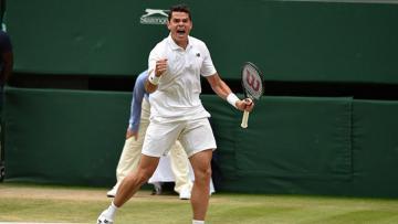 Milos Raonic mengalahkan Rafael Nadal.