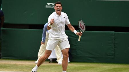 Milos Raonic mengalahkan Rafael Nadal. - INDOSPORT