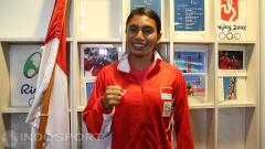 Indosport - Atlet lompat jauh Indonesia di Olimpiade 2016, Maria Londa.