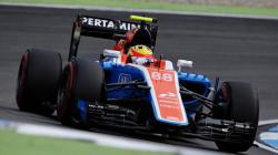 Rio Haryanto saat menjalani sesi latihan bebas kedua di GP Jerman.