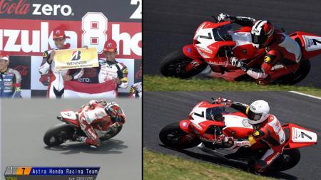 Dua pembalap Suzuka 4 Hours, Rheza Danica dan Irfan Ardiansyah. - INDOSPORT