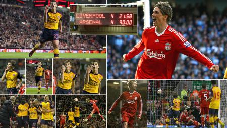 Liverpool vs Arsenal Premier League musim 2008-2009 - INDOSPORT