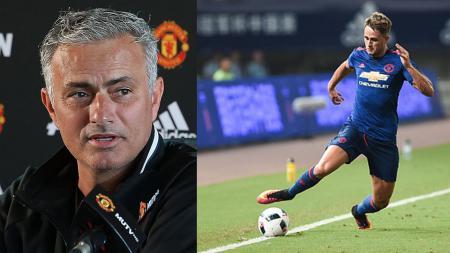 Jose Mourinho dan Adnan Januzaj. - INDOSPORT