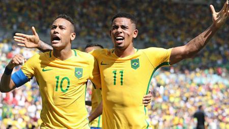 Brasil pastikan tiket partai final Olimpiade Rio 2016 usai taklukkan Honduras 6-0. - INDOSPORT