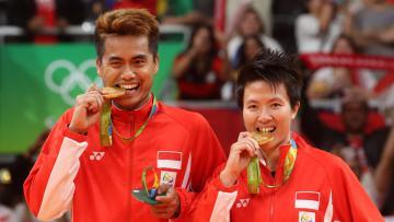 Tontowi Ahmad/Liliyana Natsir berhasil meraih emas Olimpiade 2016 ganda campuran usai mengalahkan pasangan Malaysia, Jumat (18/08/16).