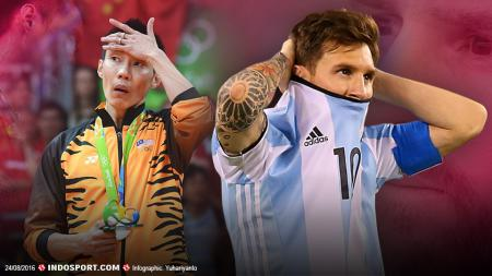 Lionel Messi dan Lee Chong Wei - INDOSPORT