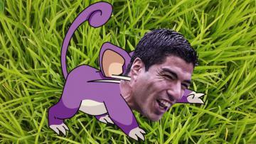 Gigi tikus Luis Suarez membuatnya dimiripkan dengan tokoh Pokemon Go.