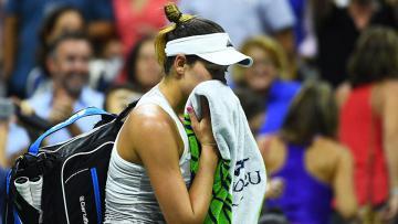 Petenis asal Spanyol, Garbine Muguruza tersingkir pada putaran kedua AS Terbuka 2016.
