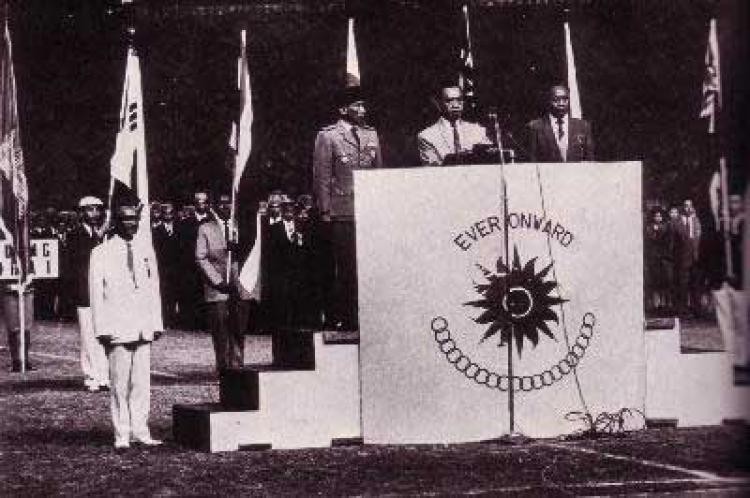 Suasana pembukaan Asian Games IV 1962 yang berlangsung di Jakarta. Copyright: Istimewa