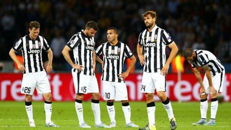 Ekspresi kekecewaan skuat Juventus. - INDOSPORT